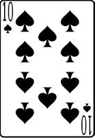10 spade card  Ten of spades meaning in cartomancy – Latin.cards